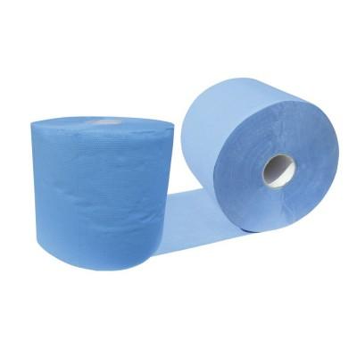 Rola hartie industriala 3 straturi albastra Herzkraft