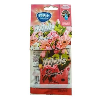 Odorizant carton cu forma de frunza FLORA FRESH MIX