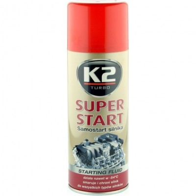 Spray pornire motor SUPER START 400ml K2