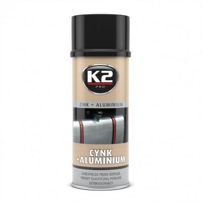 Spray zinc si aluminiu 400 ml K2