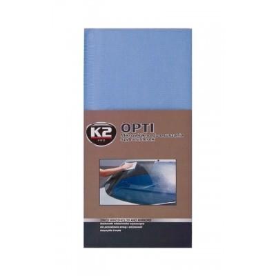 Laveta microfibra pentru geamuri  OPTI 40mmx40mm  K2