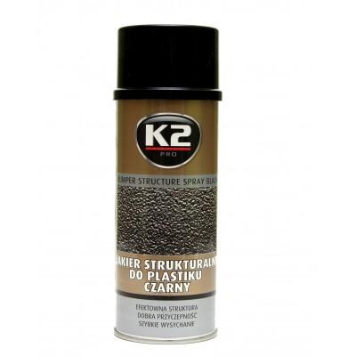 Vopsea texturata bara protectie BUMPER SPRAY K2 400 ml