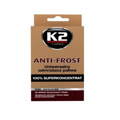 Tratament anti inghet motorina si benzina TURBO ANTI FROST 50ml K2