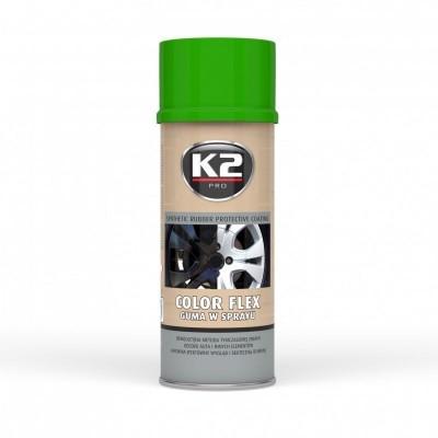 Spray vopsea cauciucata K2 COLOR FLEX 400ml verde deschis