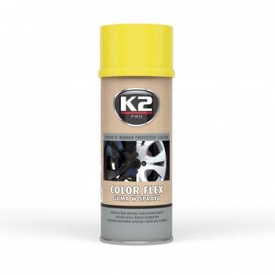 Spray vopsea cauciucata K2 COLOR FLEX 400ml galbena